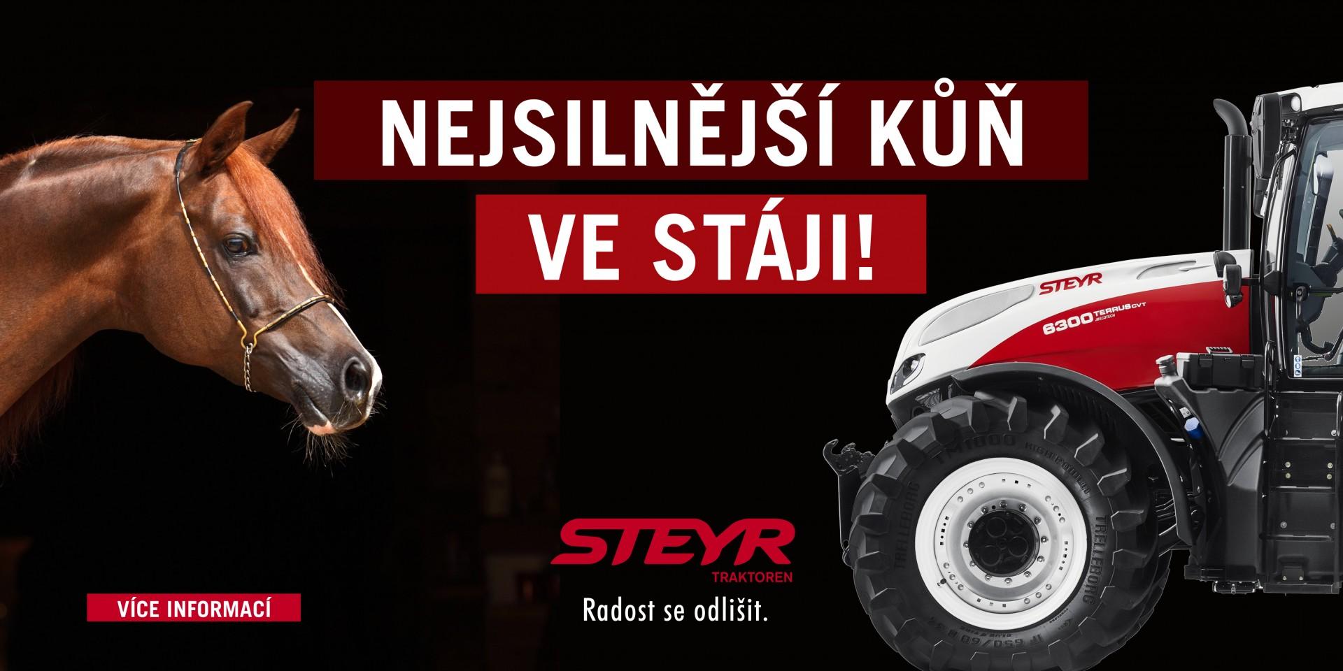 Nejsilnější kůň ve stáji Steyr
